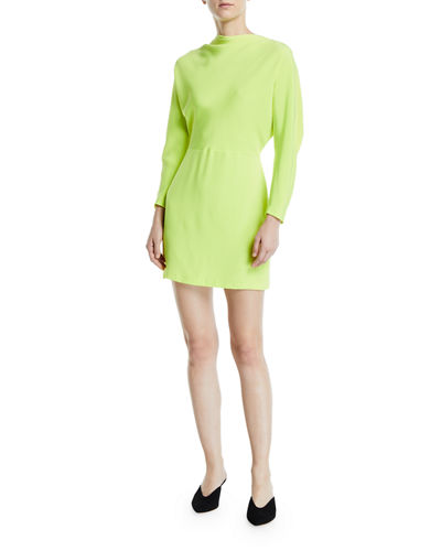 Marin Cowl-Neck Bracelet-Sleeve Mini Dress