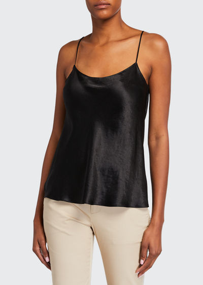 Satin Scoop-Neck Cami