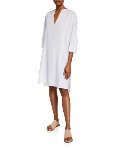 Seamed Popover Dress