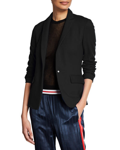 Lexington Snap-Front Wool Blazer