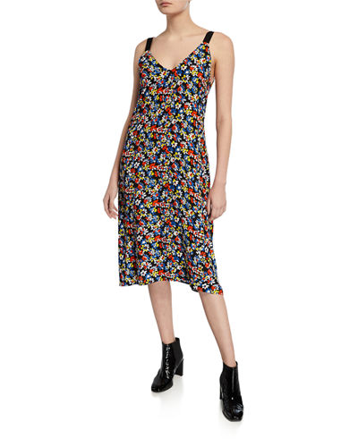 Estell V-Neck Floral Sleeveless Midi Dress