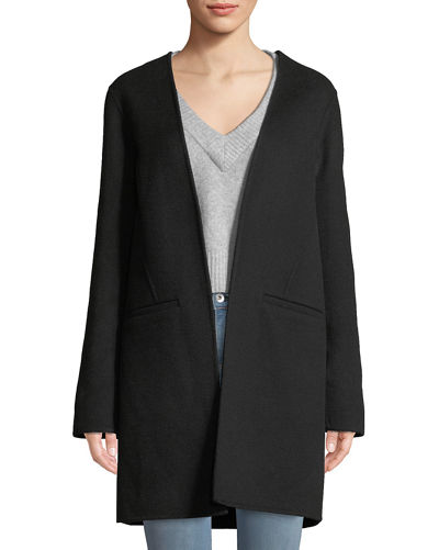 Kaye Wool Single-Button Coat with Vest