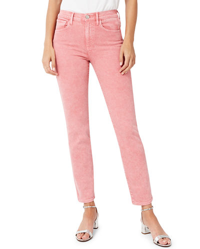 Stevie High-Rise Cropped Straight-Leg Jeans