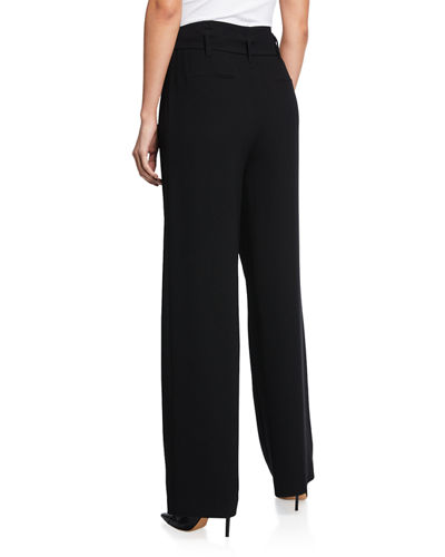 Ezmarelda Straight-Leg Belted Pants