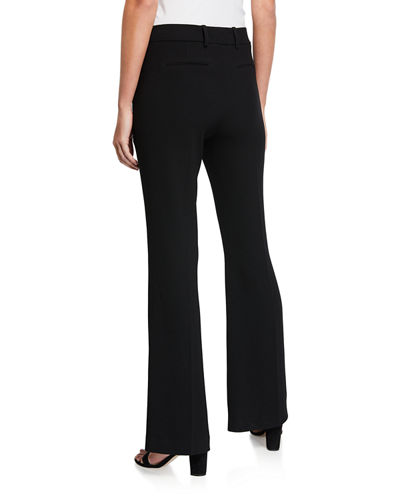 Anna Mid-Rise Crepe Flare Pants