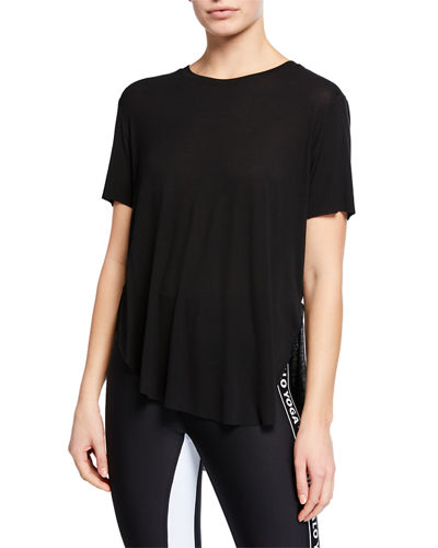 Lithe Crewneck Short-Sleeve High-Low Tee