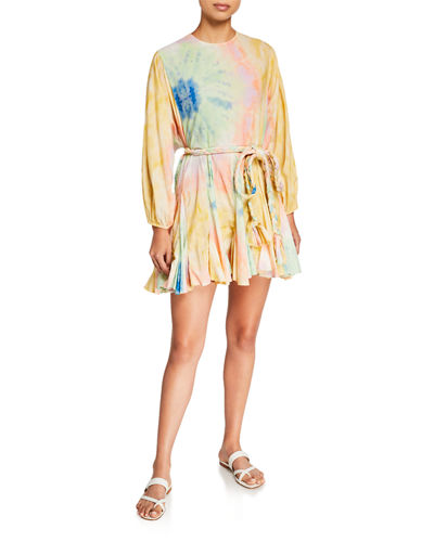 Ella Printed Long-Sleeve Dress