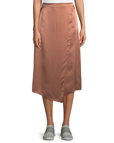 6161230a81 Draped Panel Silk Midi Skirt Quick Look. Vince