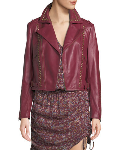 Yomo Studded Leather Moto Jacket
