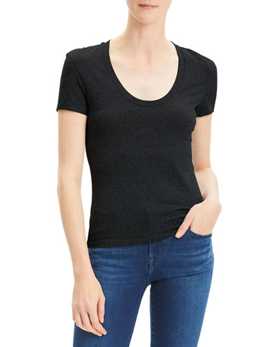 Tiny Scoop-Neck Short-Sleeve T-Shirt