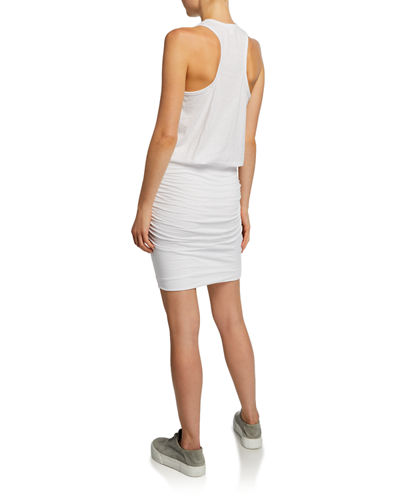 Crewneck Ruched Tank Dress