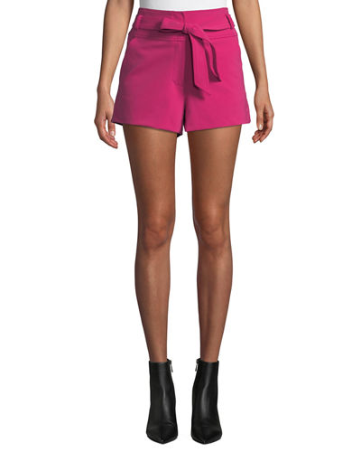 Borneo Belted High-Rise Shorts