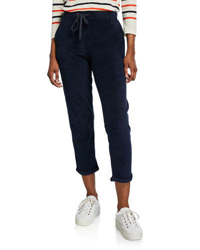 Cotton Terry Straight-Leg Pants