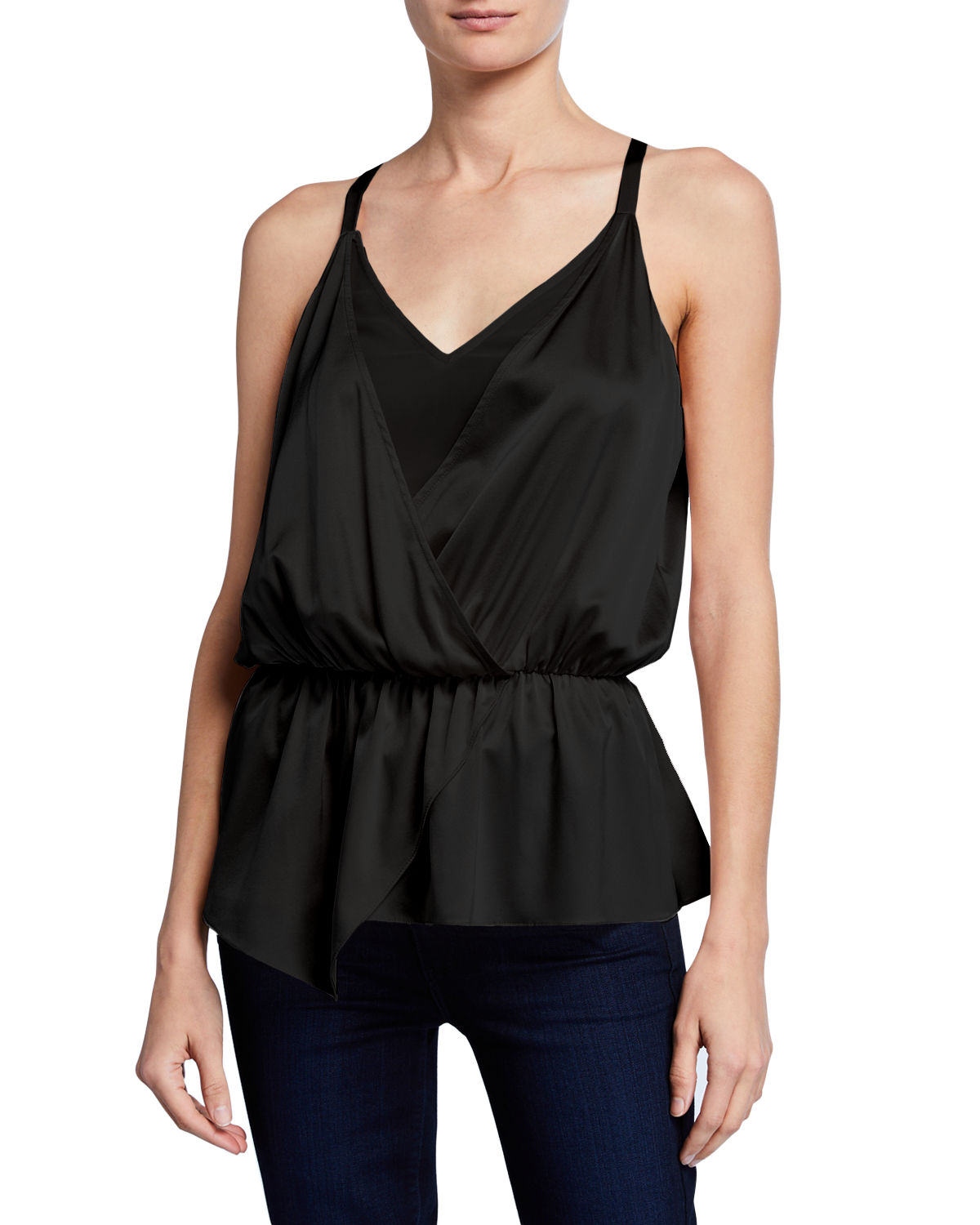 Ramy Brook Tops MARISA FAUX-WRAP BLOUSE