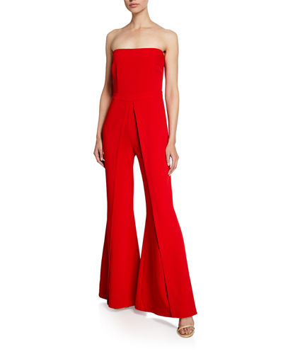 Trista Strapless Flared-Leg Jumpsuit