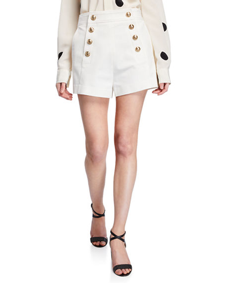 Derek Lam 10 Crosby Shorts SAILOR SHORTS WITH BUTTON DETAILS