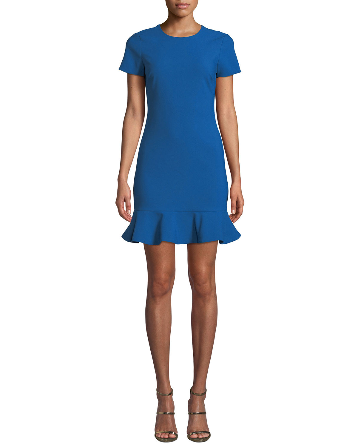 Likely Beckett Flounce Tee Dress, ROYAL