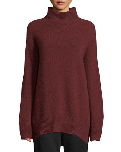 Oversized Turtleneck Cashmere Sweater