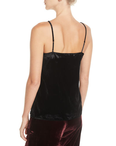 7627ad58371f49 7 For All Mankind Velvet Scoop-Neck Cami Top