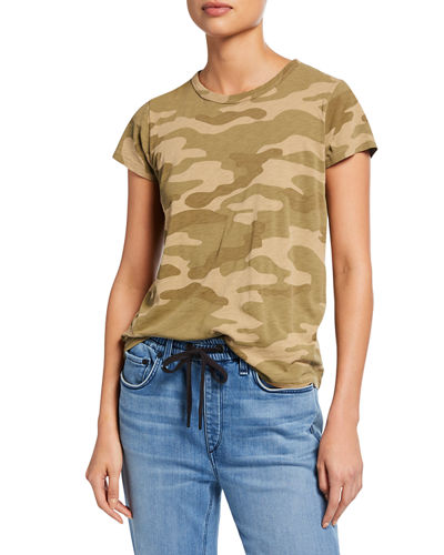 b158161236507 Camo-Print Cap-Sleeve Cotton Tee Quick Look. Rag   Bone
