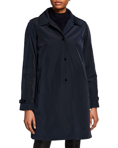 Double Layer Snap-Front Rain Coat