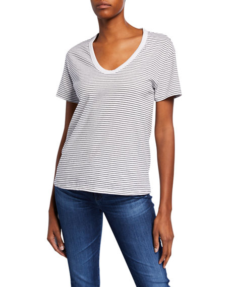 Ag T-shirts HENSON STRIPED SCOOP-NECK SHORT-SLEEVE T-SHIRT
