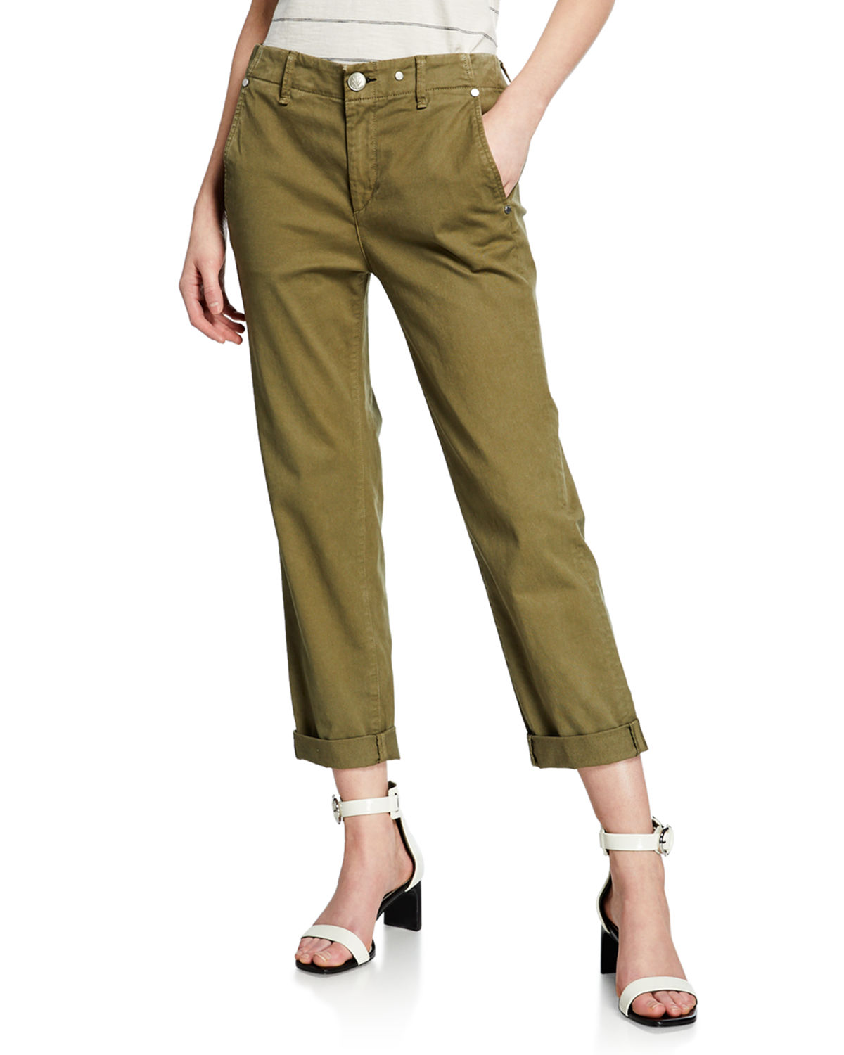 Rag & Bone Pants BUCKLEY CROPPED MID-RISE CHINO PANTS