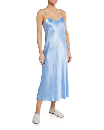 Spaghetti-Strap Satin Slip Dress