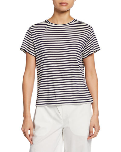 Midi Stripe Crewneck Short-Sleeve T-Shirt