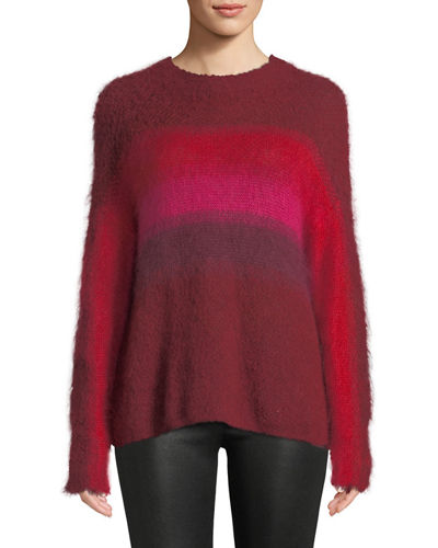 Holland Fuzzy Mohair Ombre Pullover Sweater