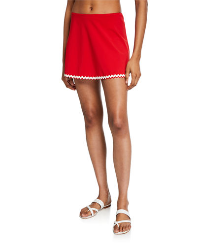 Frida A-Line Swim Skirt with Trim