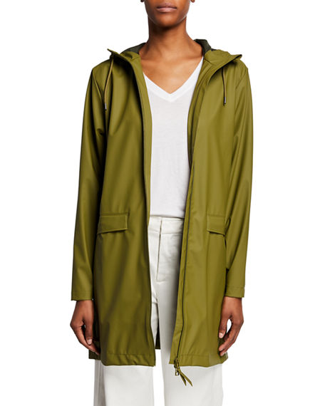 Rains W DRAWCORD MATTE RAINCOAT