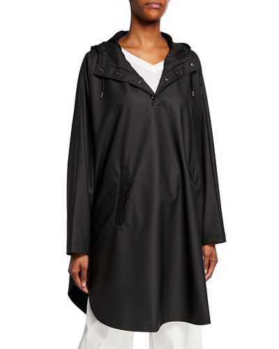Rains Boxy Hooded Poncho Jacket