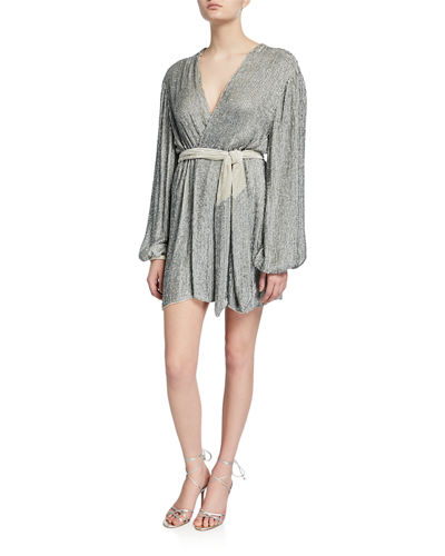 Gabrielle Sequined Wrap Dress