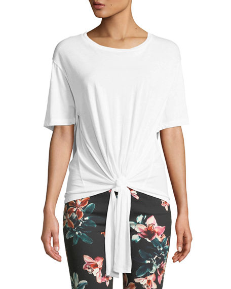 7 For All Mankind Shorts TUNNEL-FRONT CREWNECK COTTON TEE