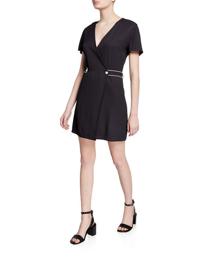 Tabitha Short-Sleeve Wrap Dress