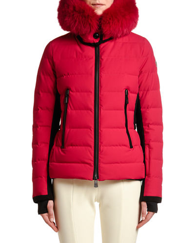 Fitted Puffer Jacket w/ Fur Hood