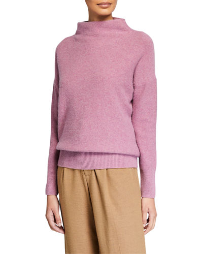 Funnel-Neck Cashmere Sweater