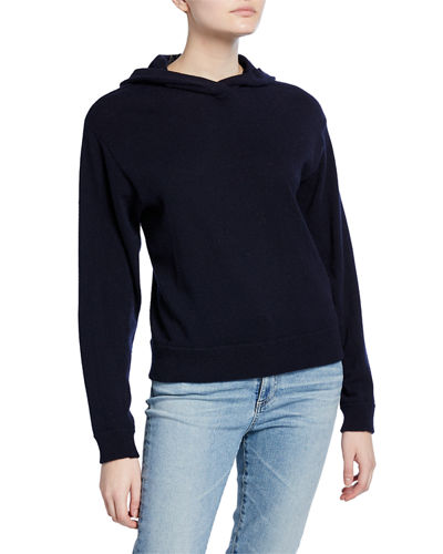 Overlap Hoodie Cashmere Sweater