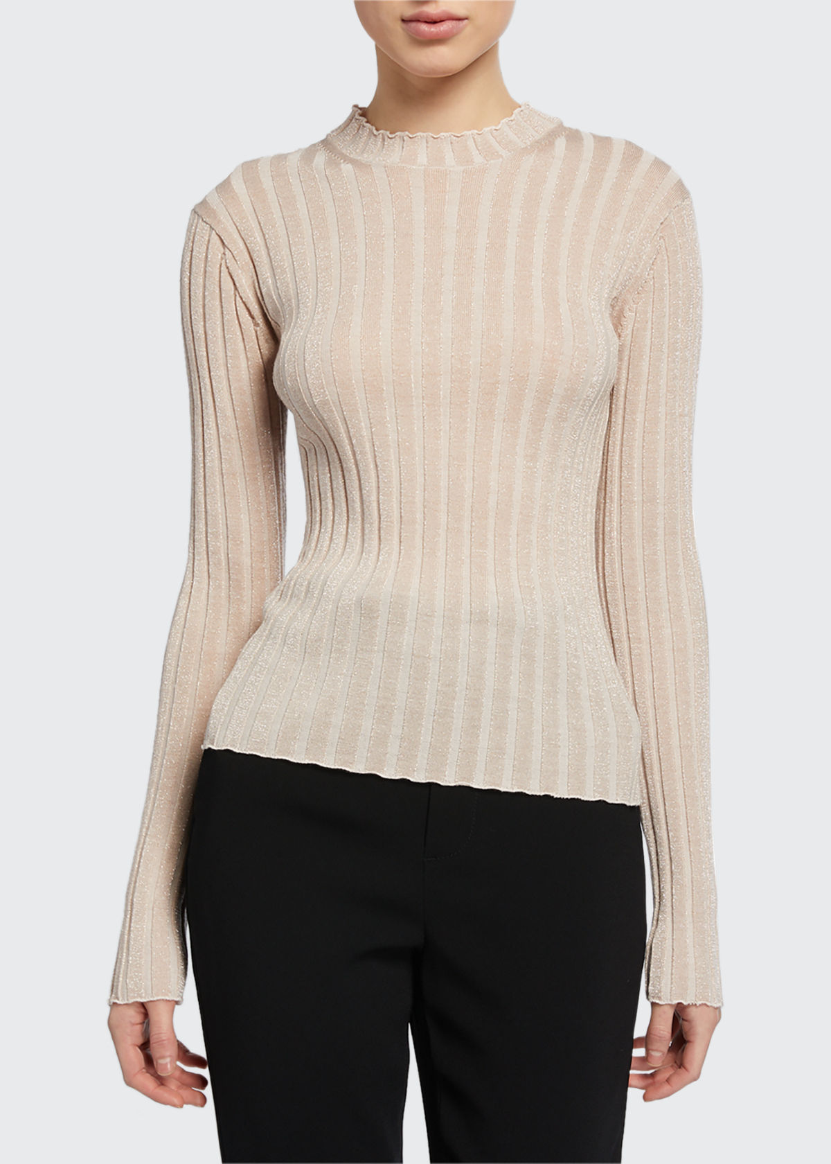 Vince Sweaters RIBBED PULLOVER SWEATER