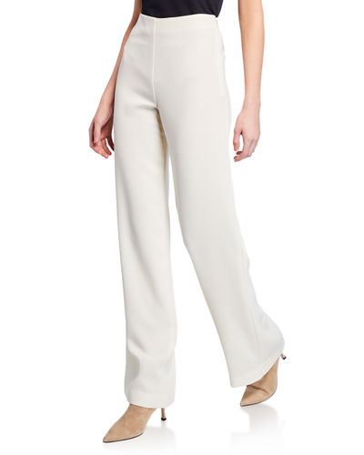 Clean Wide-Leg Crepe Pants