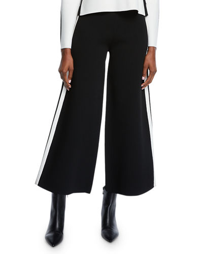 Roland Cropped Sporty Wide-Leg Pants