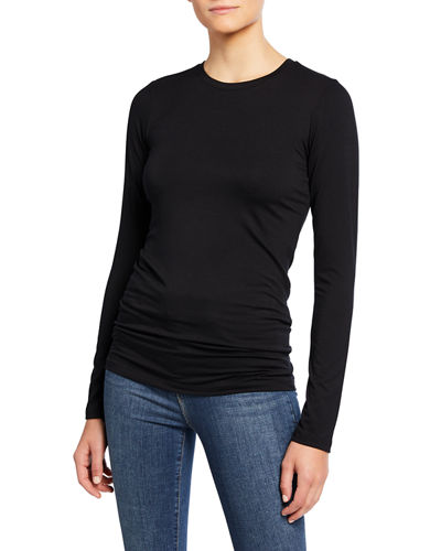 Tess Long-Sleeve Crewneck Tee