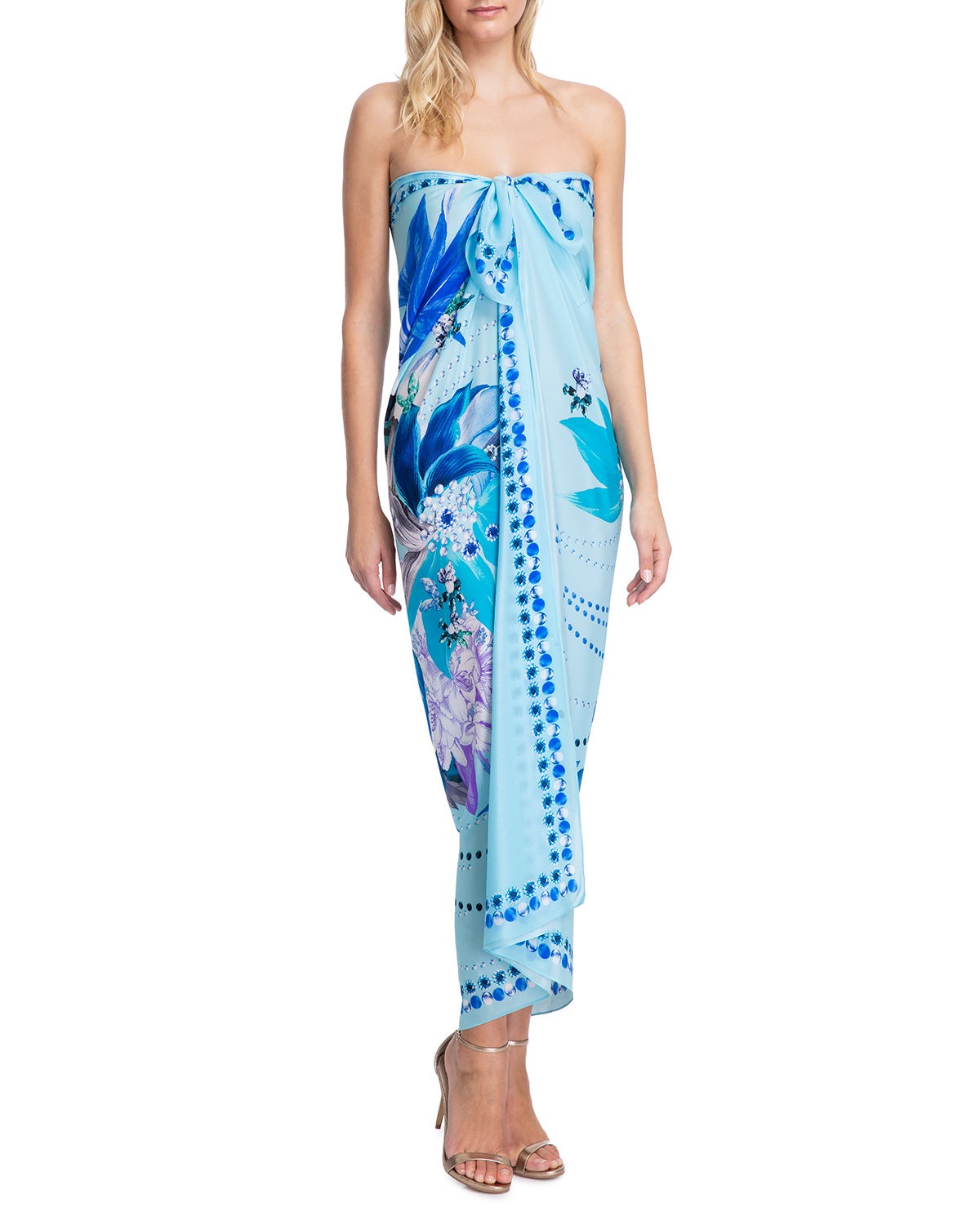 Gottex Tops PARADISE PRINTED PAREO COVERUP