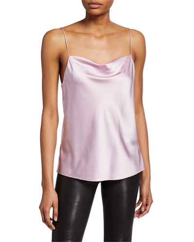 The Axel Cowl-Neck Silk Camisole