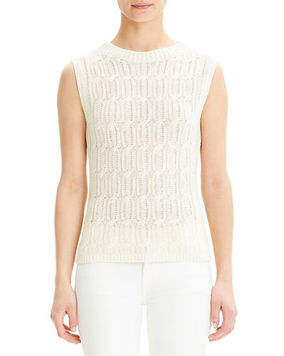 Fitted Cable-Knit Shell