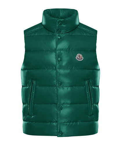 bd549d05153481 Quilted Nylon Snap-Front Puffer Vest Size 4-6 Quick Look. GREEN; BLUE; RED.  Moncler