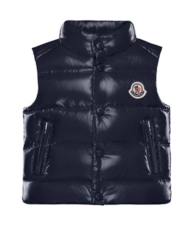 Bernard Quilted Snap-Front Vest  Size 12M-3