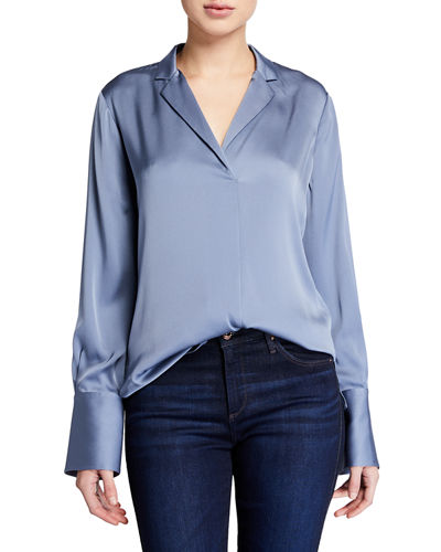 Rebekah Long-Sleeve Silk Blouse
