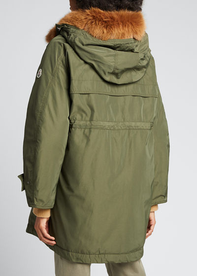 Lagopede Fur-Collar Hooded Parka